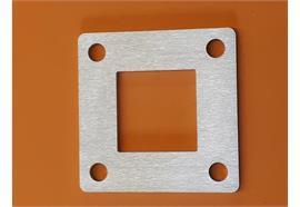 Fussplatten 100 x 100 x 5mm mit 40x40mm Zentrumsloch