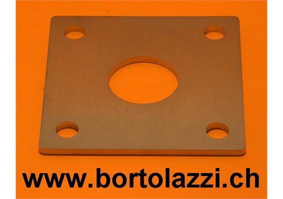 Fussplatten 120 x 120 x 5mm mit 33.7mm Zentrumsloch