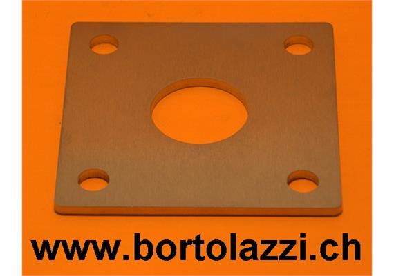 Fussplatten 120 x 120 x 5mm mit 42.4mm Zentrumsloch