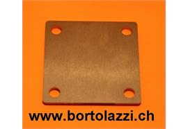 Fussplatten CNS geschliffen 100 x 100 x 5mm ohne Pfostenloch