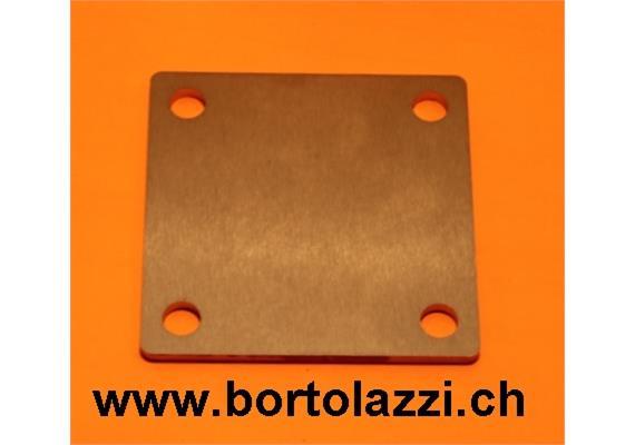 Fussplatten CNS geschliffen 120 x 120 x 5mm ohne Pfostenloch