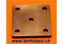 Fussplatten Stahl 80 x 80 x 10mm
