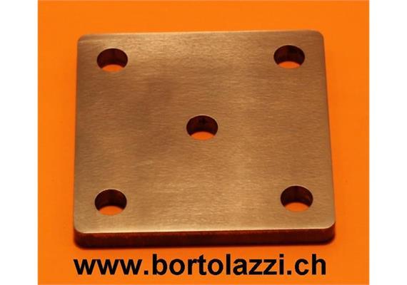 Fussplatten Stahl 80 x 80 x 8mm