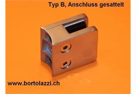 """Glashalter / Glasklemme Typ B, Anschl. 1 1/4"""", Glasdicke 6mm"""