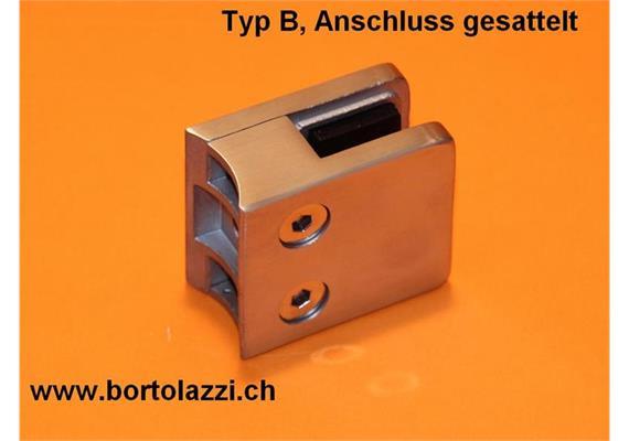 """Glashalter / Glasklemme Typ B, Anschl. 1 1/4"""", Glasdicke 8.76mm"""