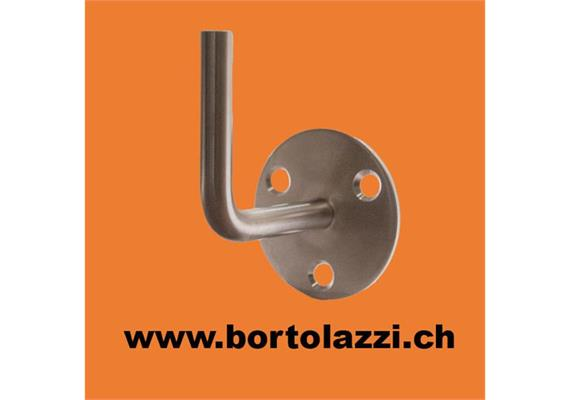 Handlaufhalter ohne Auflageschale aus Stahl