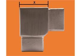 Rohrecke L-Stück quadratisch für