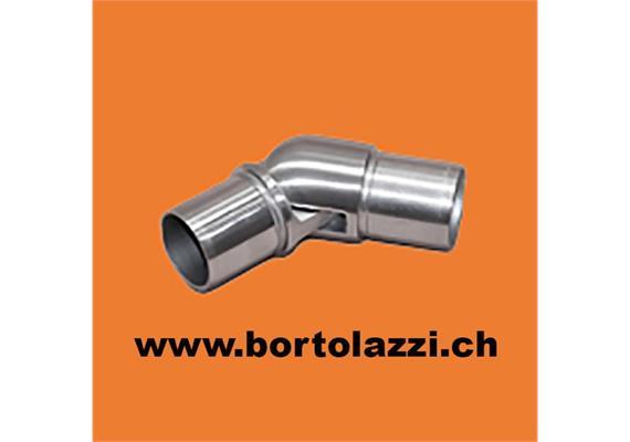Rohrecke mit Gelenk für Rohr 33.7 x 2mm