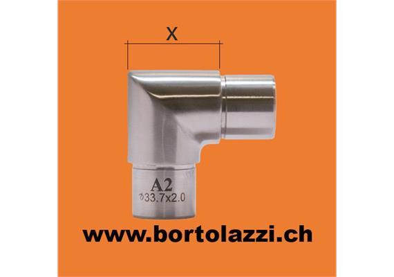 Rohrecke spitz für 33.7 x 2mm