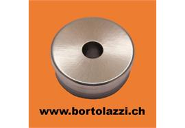 Rohrendstück flach 33.7 x 2mm, Mittelloch 10mm