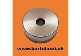 Rohrendstück flach 33.7 x 2mm, Mittelloch 12mm