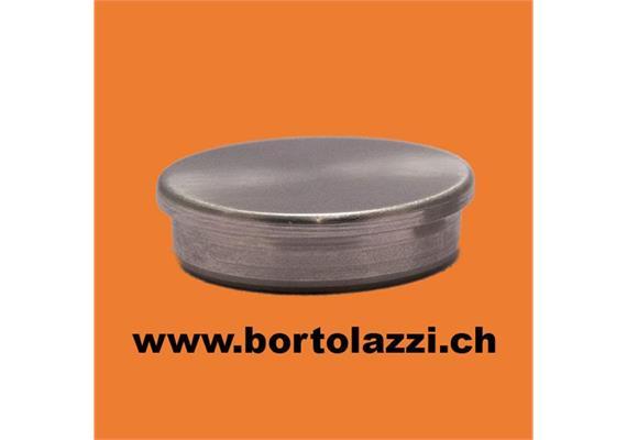 Rohrendstücke flach, für 26.9 x 2mm Geländerrohre