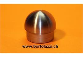 Rohrendstücke kugelrund für 30.0 x 2mm Geländerrohre