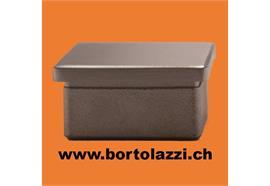 Rohrendstücke quadratisch (40 x 40mm) flach für