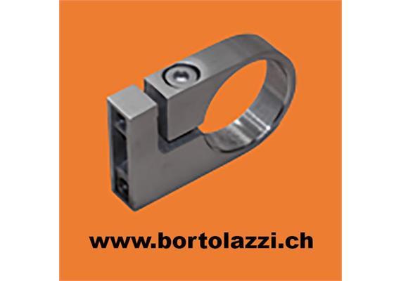 Rohrklemme V2A für Rundrohre d=42.4mm