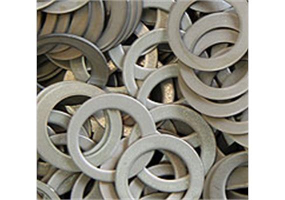 Scheiben mit Loch aus Kupfer